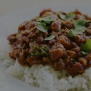 plate of two bean chilli