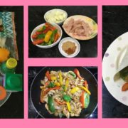 Homemade chicken fajitas, homemade fajitas, homemade fajita seasoning, healthy fajita recipe, free healthy recipes